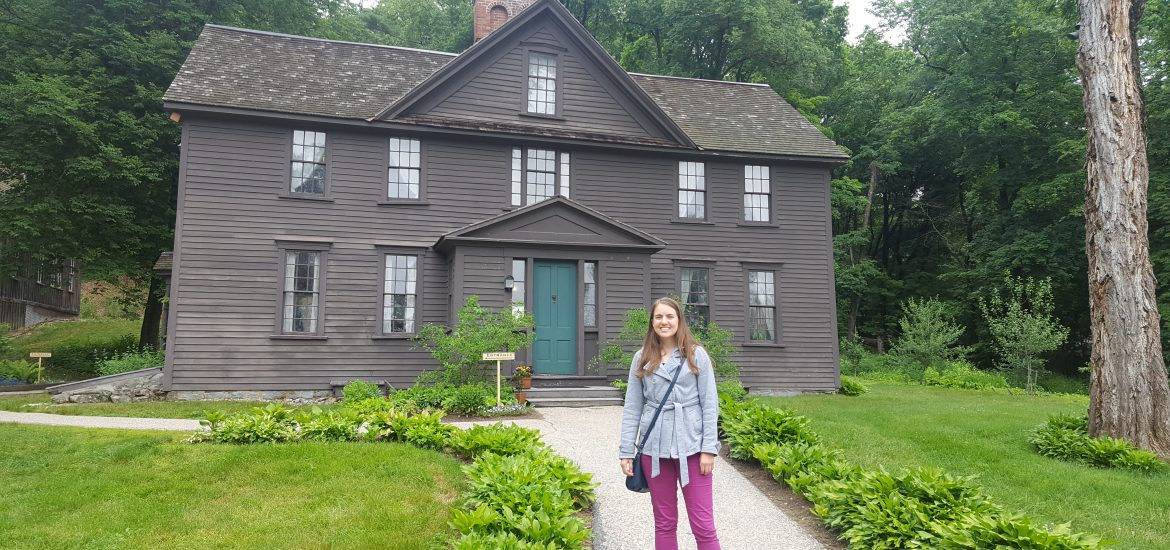 Louisa May Alcott home in Massachussetts
